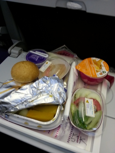 meal onboard Thai Airway SG to BKK