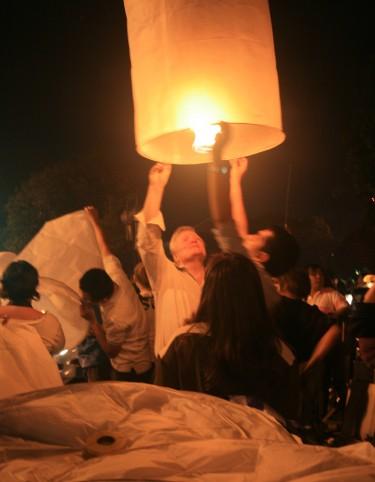 releasing Khom Loy in ChiangMai