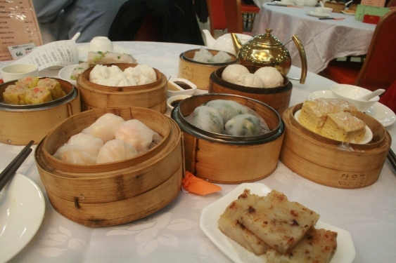 dim sum for two. over ordered...
